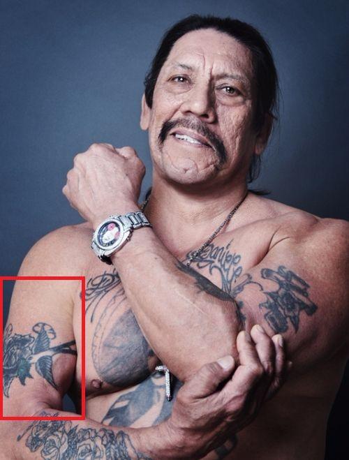 Danny Trejo Hummingbird Tattoos