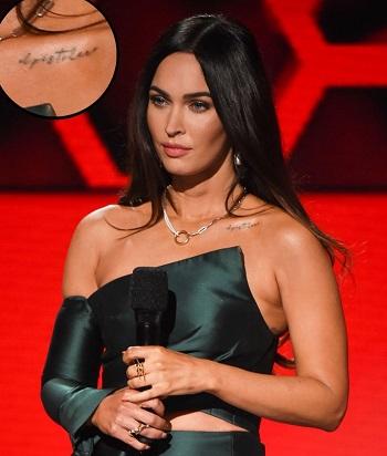 Megan Fox's Collarbone Tattoo