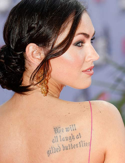 Megan Fox's Large Quote Side Tattoo