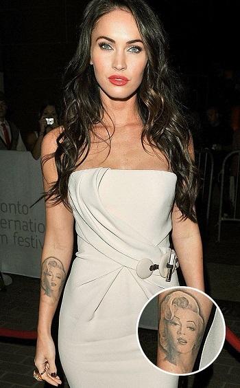 Megan Fox's Marilyn Monroe Tattoo