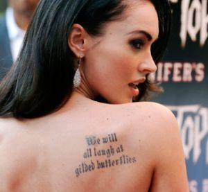 Megan Fox's Shakespearean Back Tattoo